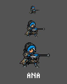 [Pixel Art] - Ana Amari Overwatch Sprites Twitter:  pic.twitter.com/oFKvdCU5WL
