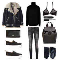 """Shearling"" by fashionlandscape ❤ liked on Polyvore featuring R13, Joseph, Alexander Wang, Cheap Monday, Yves Saint Laurent, Whistles and NARS Cosmetics"