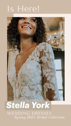 Vintage Inspired Wedding Dresses, Long Wedding Dresses, Wedding Gowns, Stella York, Bridal Outfits, Bridal Gowns, Boho Wedding, Summer Wedding, Wedding Ideas