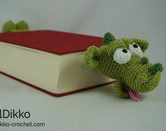 Amigurumi Crochet Pattern - Draco the Dragon Bookmark