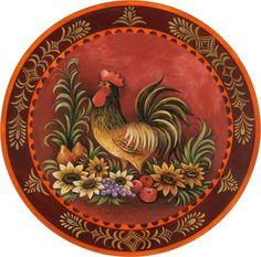 Fancy Folk Art Rooster.......rh