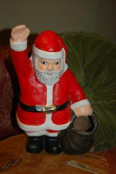 Paper Mache Santa Claus by JunkyardElves on Etsy, $24.95