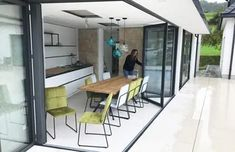Sommergarten oder Wintergarten aus Oberösterreich Wooden Door Design, Wooden Doors, Modern Farmhouse, Garden Design, Lounge, Patio, Interior, Outdoor Decor, Aluminium