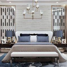 // Contempory Bedroom, Bedroom Decor Design, Beautiful Bedrooms, Home Bedroom, Bedroom Hotel, Luxurious Bedrooms, Bedroom Inspirations, Hotel Room Design, Modern Bedroom