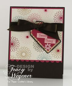 Cute, versatile card designed by Tracy Wegener @Paper Crafter's Library.