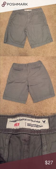 Men's AEO Flat Front Shorts Only worn once! Nothing wrong with the shorts, just something I don't wear. Willing to consider any offers! American Eagle Outfitters Shorts Flat Front