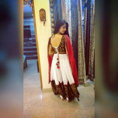 Anarkali suit back design