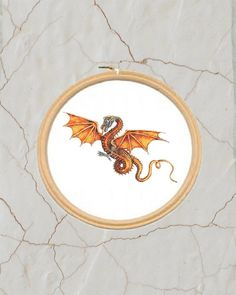 Dragon Cross Stitch Pattern, PDF, DMC Threads, Instant Download by KnitSewMake on Etsy