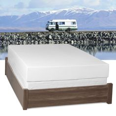 Made specifically for RV beds, this Select Luxury RV Medium Firm 10-inch Queen Short-size Gel Memory Foam Mattress provides excellent comfort.