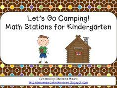 Let's Go Camping! {math Stations For Kindergarten}