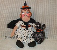Grace Drayton Styled Halloween Folk Art Doll by shweetpotatodolls, $35.00
