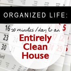 Clean your House in Only 20 Minutes a Day using this simple schedule.