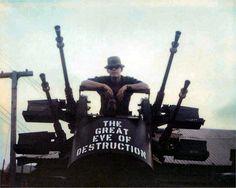 """The Great Eve of Destruction"" gun truck Vietnam. This is the only surviving Gun Truck from the Vietnam War. Vietnam History, Vietnam War Photos, Brown Water Navy, Military Pictures, Vietnam Veterans, Vietnam Protests, American War, Nose Art, War Machine"