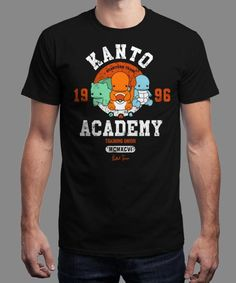 """""""Kanto Academy"""" is today's £8/€10/$12 tee for 24 hours only on www.Qwertee.com Pin this for a chance to win a FREE TEE this weekend. Follow us on pinterest.com/qwertee for a second! Thanks:)"""