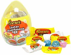 Reese's Large Easter Egg with Candy Assortment Reese Eggs, Reese Peanut Butter Eggs, Chocolate Peanut Butter, Large Plastic Easter Eggs, Easter Egg Candy, Easter Chocolate, White Chocolate, Easter 2021, Desktop Organization