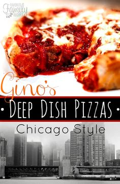 This Gino's Deep Dish Chicago Style Pizza Copycat is so incredibly good. It's loaded with melty cheese on bottom, then topped with meat and marinara sauce.