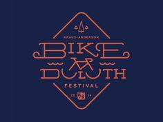 Bike Duluth Logo by Ken Zakovich