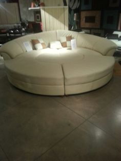 Round couch-chair. Would love to have for hubby & I. This one ...