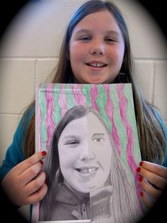 SPLIT FACE PORTRAIT: Snap a photo then cut it in half. Using the photograph glued to one side of a piece paper, ask the child to draw  the other side of their face only, using the photograph for reference. The results…very cool!