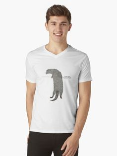 Gas fella Yurty says hang in there! Otter, Cotton Tote Bags, Tshirt Colors, Heather Grey, Classic T Shirts, Shirt Designs, Artists, Sayings, Unique