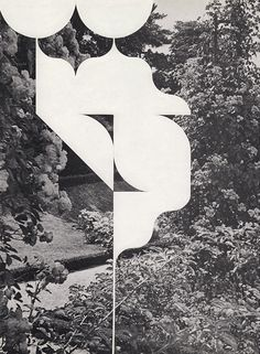 Louis Reith, Untitled (Nachttuin *13), 2014 Collages of found book pages 205 x 277 mm