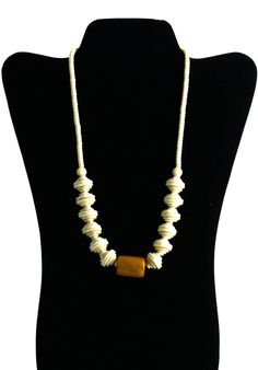 Cream Art Deco Necklace with Old Bedouin by elegantjewelrybyyaya