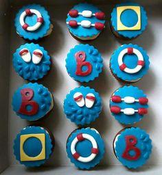 Cupcakes zwemdiploma B!