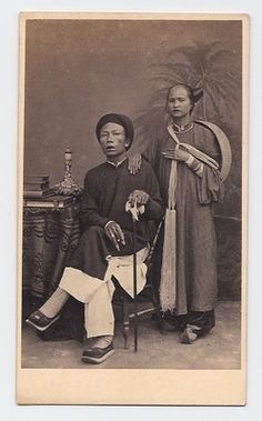 Singapore Cochin Chinese Man Woman 1860s China Excellent Mint Condition | eBay