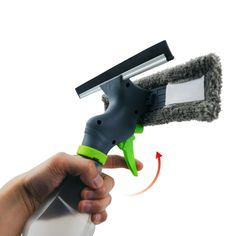 3 in1 function: Spray, dry, scraper.Large capacity water bottle: Can add detergent, warm water.Clean the scraper: Silicone scraper to remove stains.Ultrafine fiber cleaning cloth: Super fiber material, clean glass cleaner.Atomizing nozzle: Instantaneous atomization, cleaning more convenient. Material: Super fiber + PlasticLength: 25cm/9.84inchWindow scraper size:(LxW) about 26.5x8.5cm/10.43x3.35inch Feature: Eco-Friendly Cleaning steps :1.Spray on the glass2.Use a microfiber cloth to wipe 3.Use Best Window Cleaner, Best Glass Cleaner, Spray Bottle, Water Bottle, Metal Spring, Fibre Material, Remove Stains, Eco Friendly, Cleaning