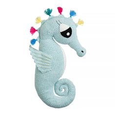 Handmade crochet large soft toy - Sasha Seahorse Sasha Seahorse is bright, colorful and adventurous. She enjoys exploring the many different coral reefs with...