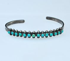 Old Pawn Navajo Sterling Silver and Turquoise by JewelryWanderlust, $235.00