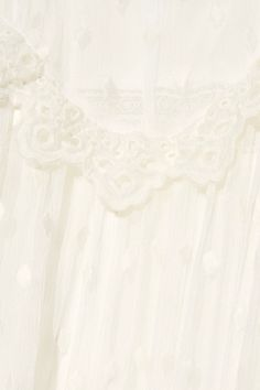 Zimmermann - Divinity Lace-trimmed Embroidered Silk-georgette Midi Dress - Ivory - 1