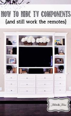 How to Hide Your TV Components {and Still Work Your Remotes}
