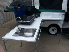 DIY Outdoor Galley: much smaller and lighter than the Cabela's Camp Kitchen.