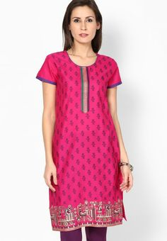 Cotton Pink Kurta