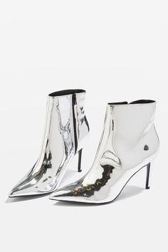 Mimosa metallic ankle boots
