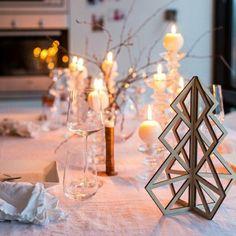 Décoration de table de Noël et dessous de plat scandinave en bois, le cadeau de Noël parfait