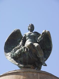 The angel on the Anglo-Boer War Memorial at the South African National Museum of Military History in Johannesburg