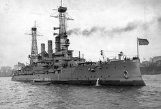USS NEW HAMPSHIRE (BB-23) Was Six of Six Connecticut Class Battleships - Comm, 19 Mar, 1908 - Decomm, 21 Mar, 1921 - Sold For Scrap, 1 Nov, 1923