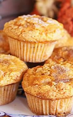 Pompoen-peren muffins