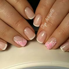 Amazing nails, Bridal nails, Exquisite french manicure, Stylish French nails, Summer french nails, Trendy french manicure 2017, Wedding French manicure, Wedding nails with flowers