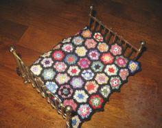 crochet dollhouse curtain - Google Search