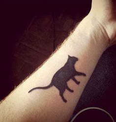 Cat forearm tattoo - 100 Examples of Cute Cat Tattoo <3 <3