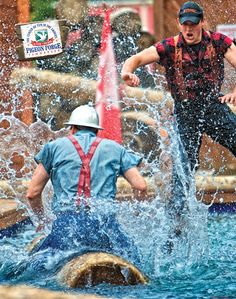 Cheer for your lumberjacks over a camp style meal at #Lumberjack Feud in #PigeonForge!