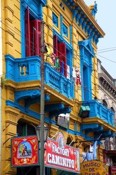 Colorful Caminito, one of the main touristic points in Buenos Aires, you can go visit it before or after your Spanish classes :) www.elpasajespanish.com