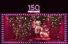 Printemps,Paris | Happy 150th! Wonderful pink rose decoration.