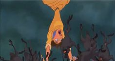 Jane's bare foot is being grabbed by Tarzan's feet with all the angry  Baboons on top of her when Tarzan saved Jane from falling with the Baboons  fr…