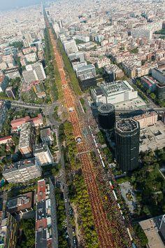 La Via Catalana 2014 des de l'aire - Foto 17 de 17 | Galeria de fotos | Nació Digital