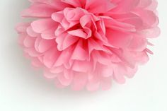Pink Tissue Paper Pom Poms Wedding Birthday by FancifulChaos, $4.00