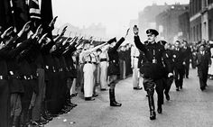 Sir Oswald Mosley inspecting members of his British Union of Fascists in London, in October 1936. Queen's Nazi salute video: a royal home movie like no other Although two small girls could not have understood what their Nazi salute signified as they played in the garden, Adolf Hitler's dictatorship was already rounding up political opponents, targeting Jews and burning books.